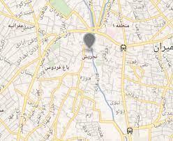 نقشه نمایندگی ایران رادیاتور شمال تهران